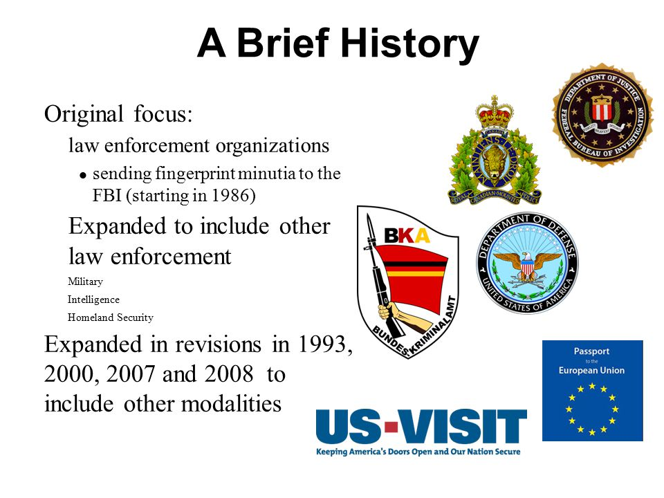 A Brief History Original focus: