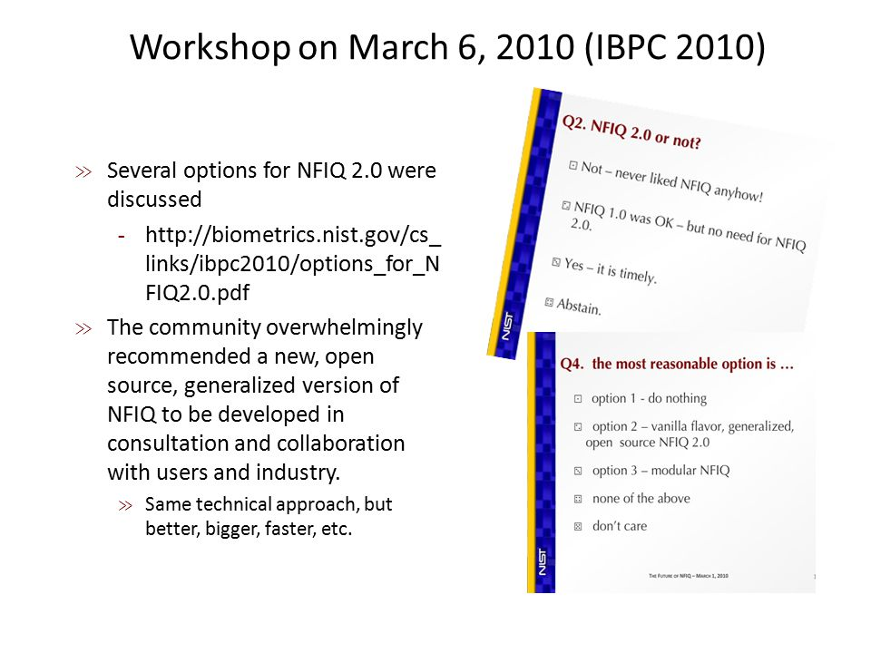 Workshop on March 6, 2010 (IBPC 2010)