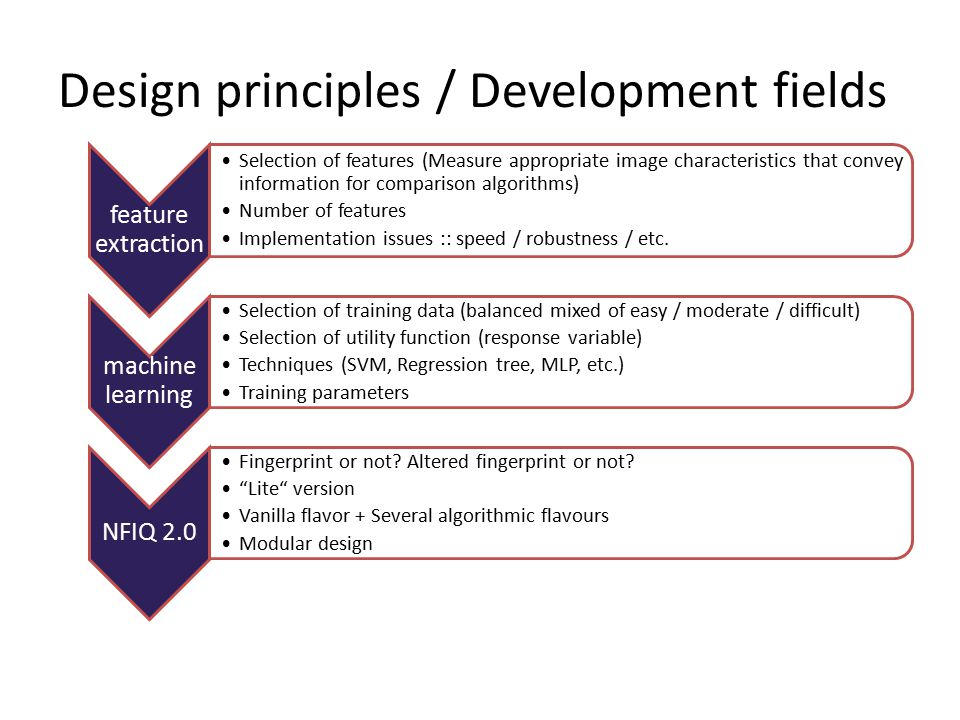 Design principles / Development fields