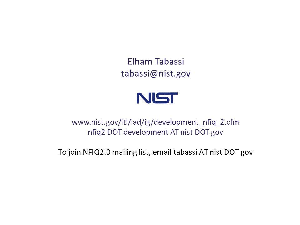 Elham Tabassi tabassi@nist.gov