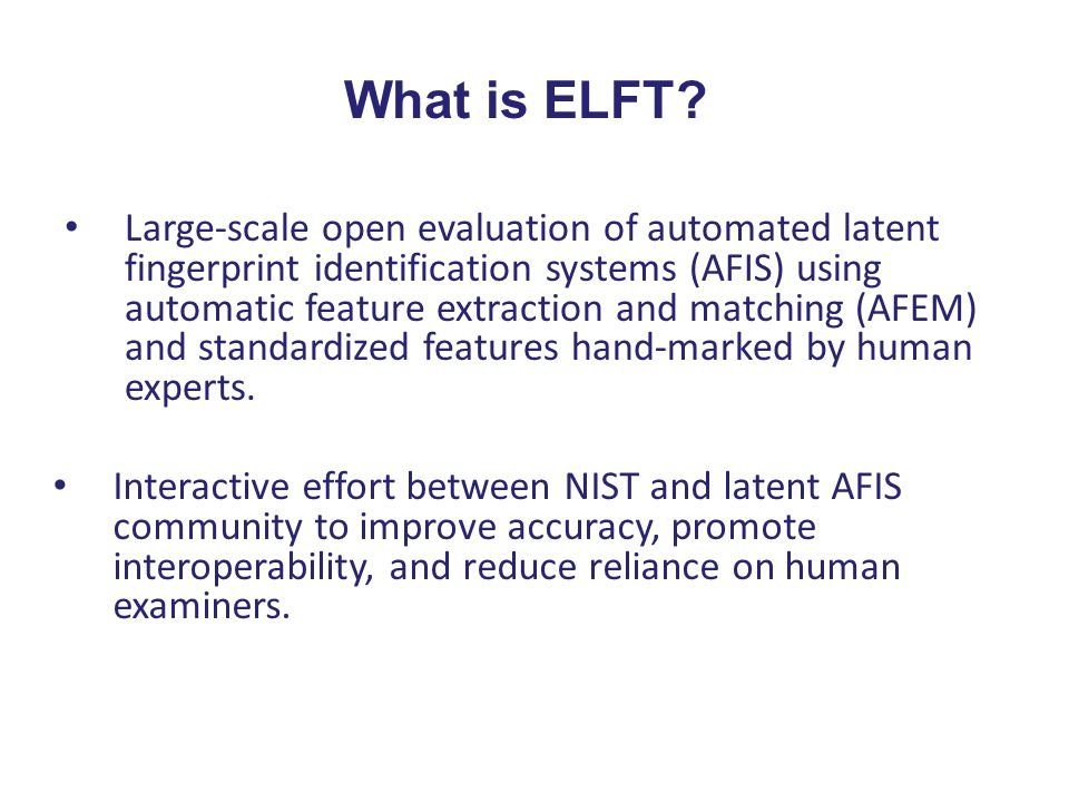 What is ELFT