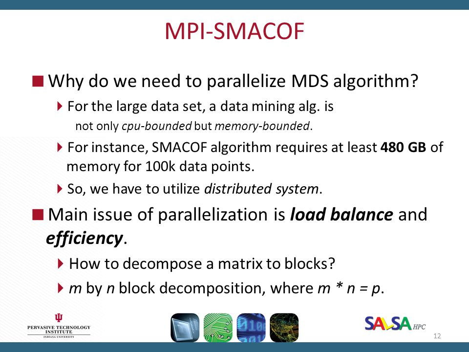 MPI-SMACOF Why do we need to parallelize MDS algorithm