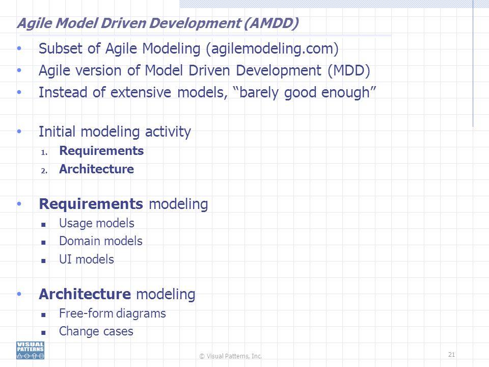 Agile Model Driven Development (AMDD)