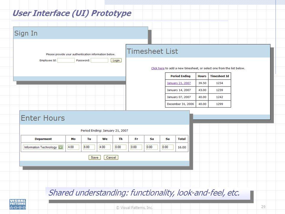 User Interface (UI) Prototype