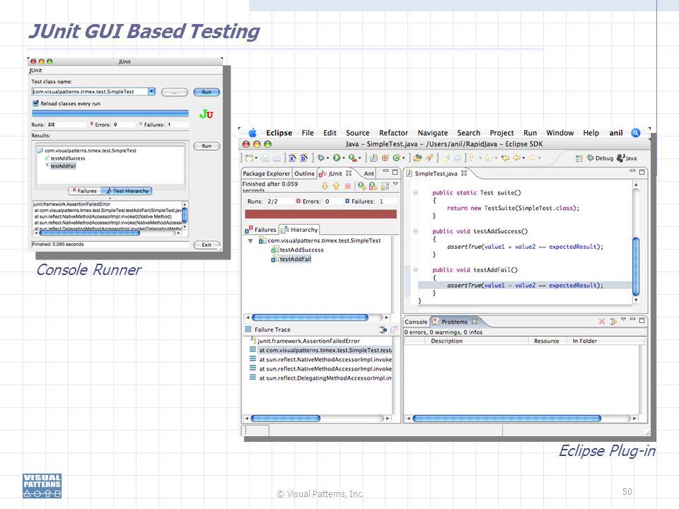 JUnit GUI Based Testing