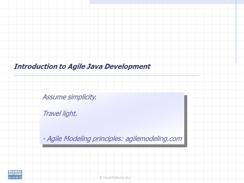 Introduction to Agile Java Development