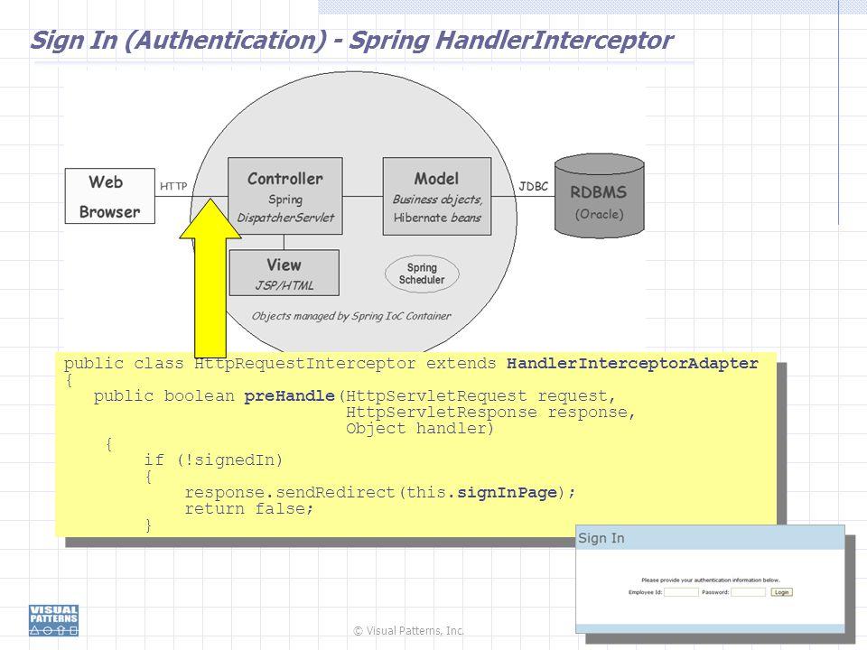 Sign In (Authentication) - Spring HandlerInterceptor