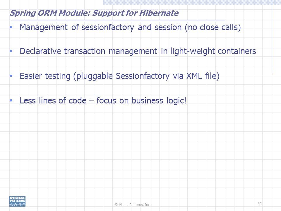 Spring ORM Module: Support for Hibernate