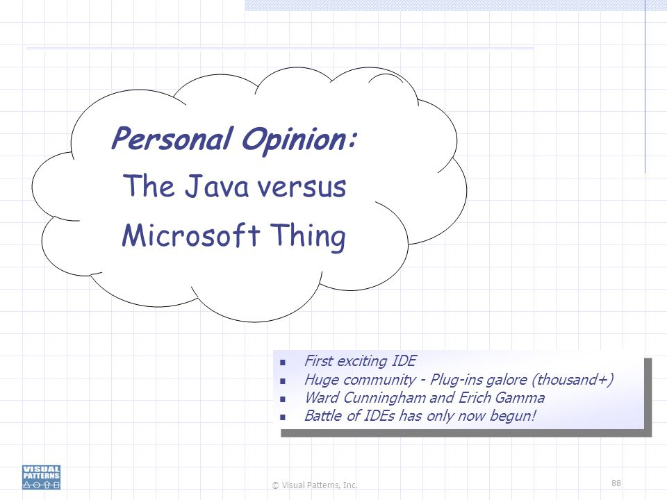 Personal Opinion: The Java versus Microsoft Thing First exciting IDE