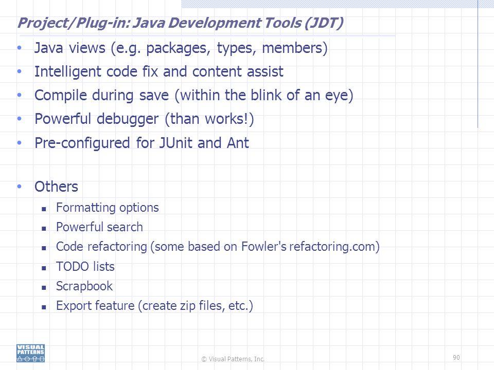 Project/Plug-in: Java Development Tools (JDT)