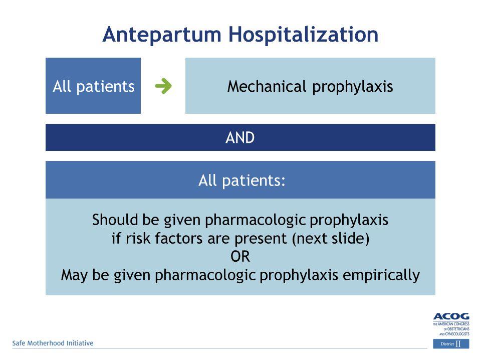 Antepartum Hospitalization