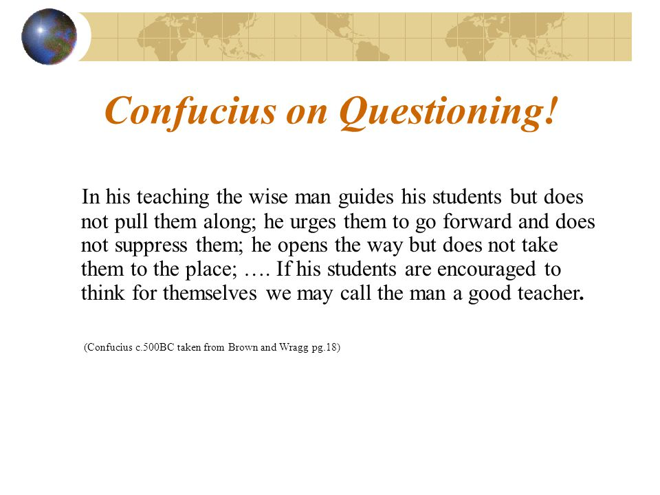 Confucius on Questioning!