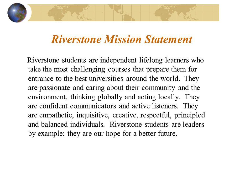 Riverstone Mission Statement