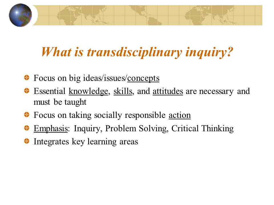 What is transdisciplinary inquiry