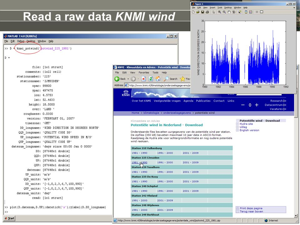 Read a raw data KNMI wind