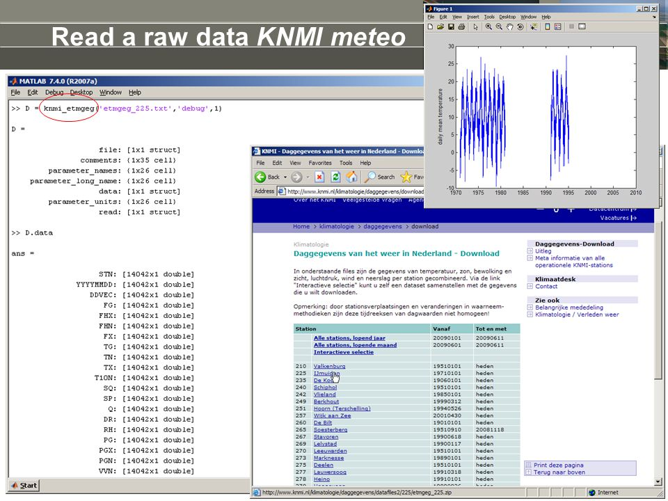 Read a raw data KNMI meteo