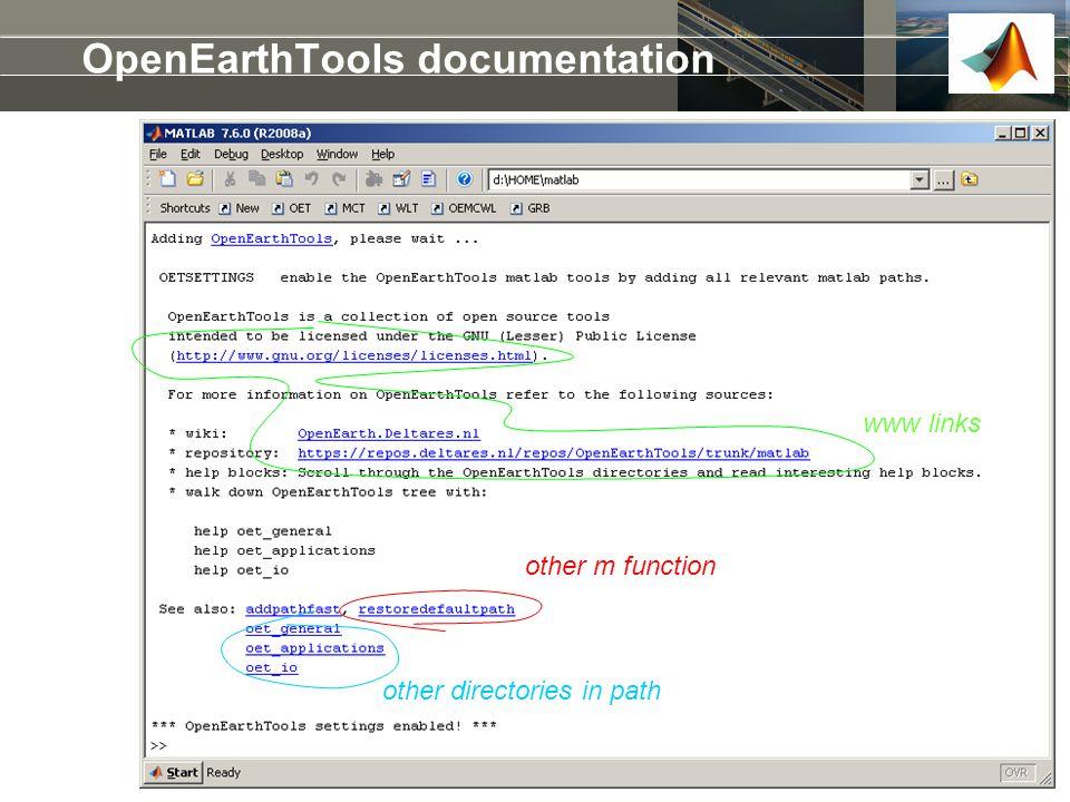OpenEarthTools documentation