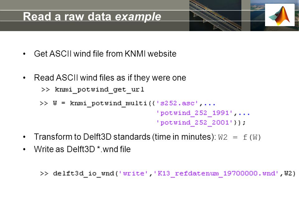 Read a raw data example Get ASCII wind file from KNMI website