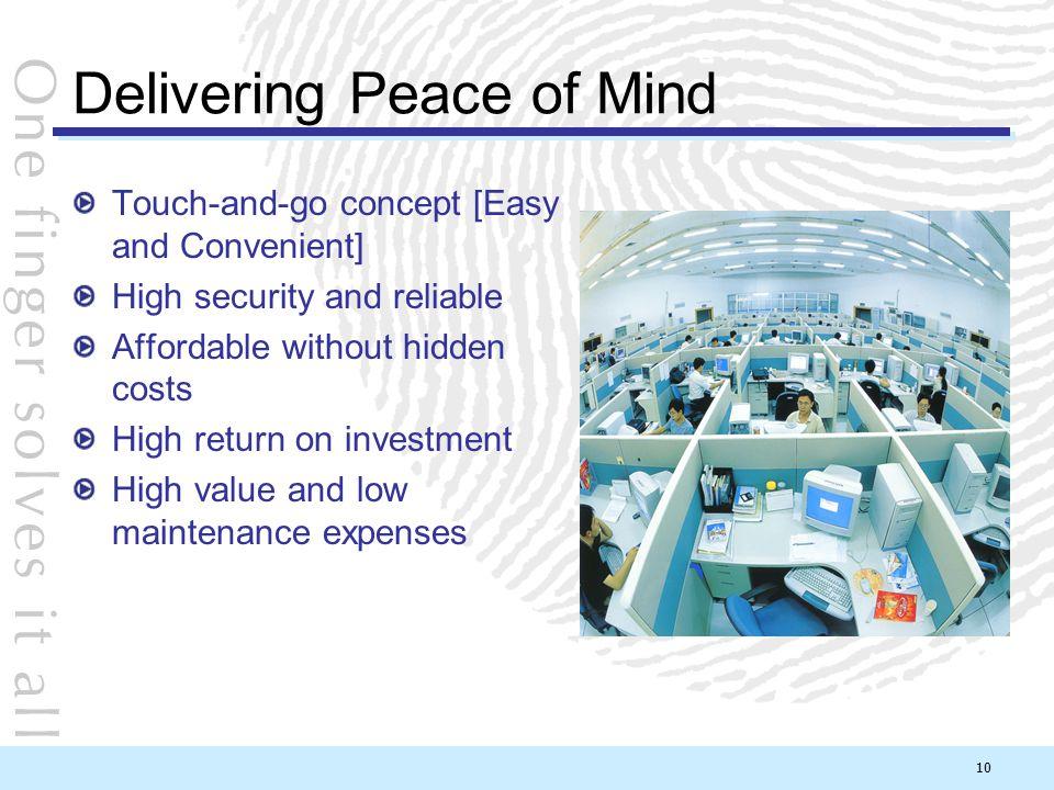 Delivering Peace of Mind