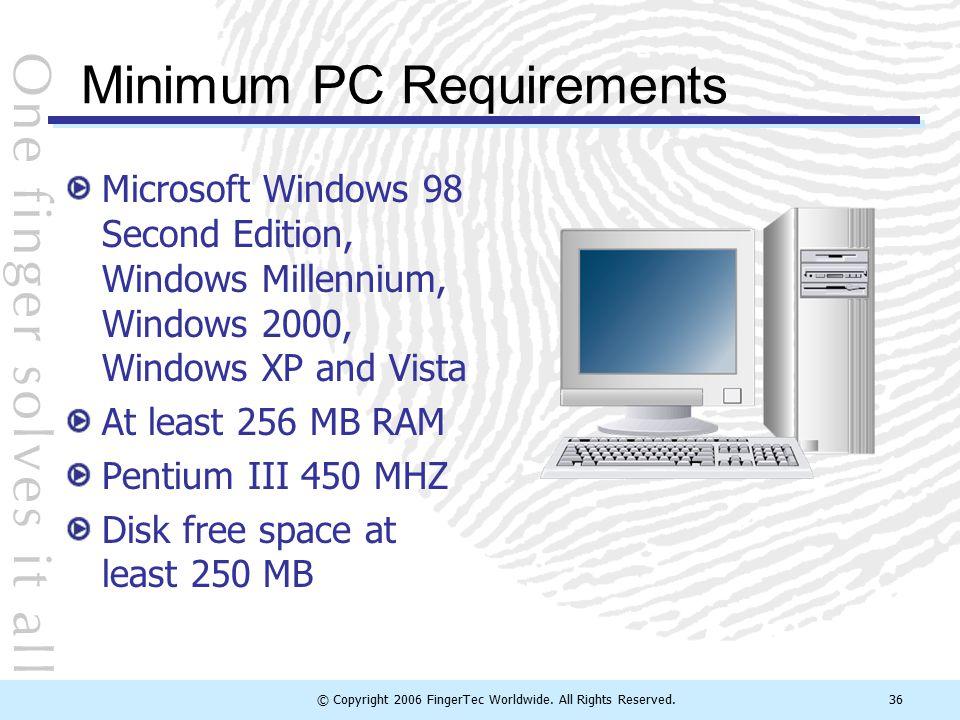 Minimum PC Requirements