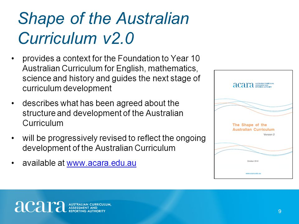 Shape of the curriculum