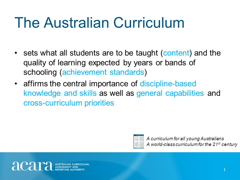 Aims The Australian Curriculum aims to: