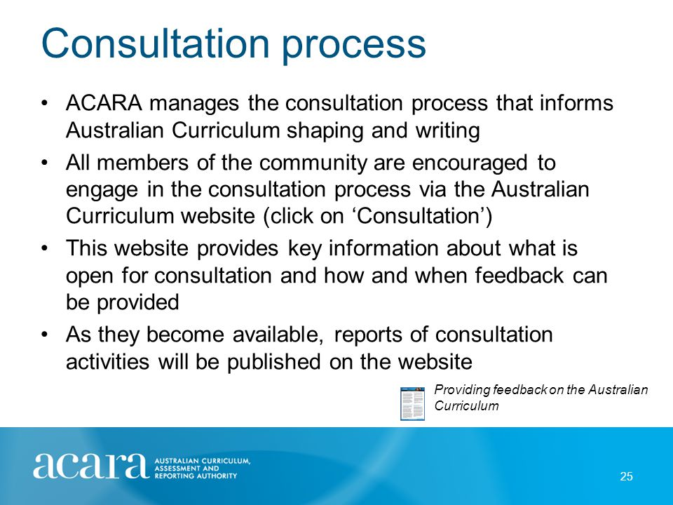 Consultation occurs on: