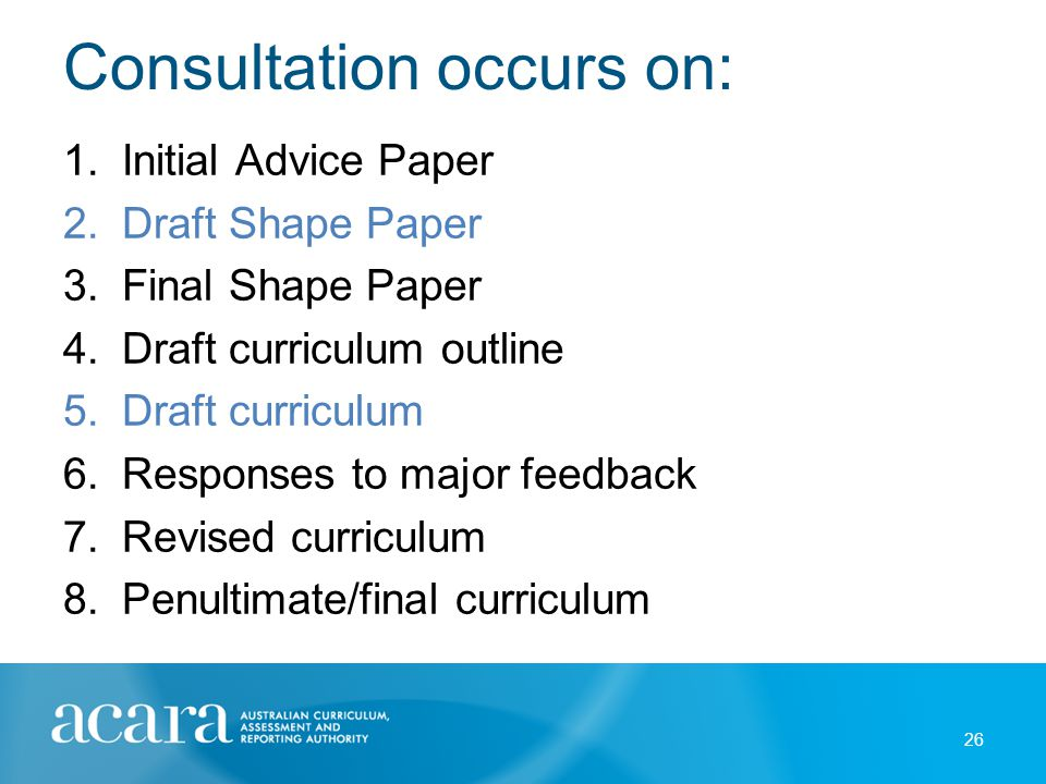Consultation processes
