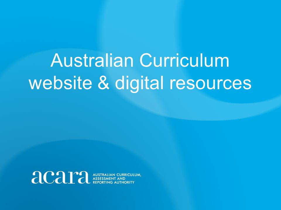 Digital curriculum and resources