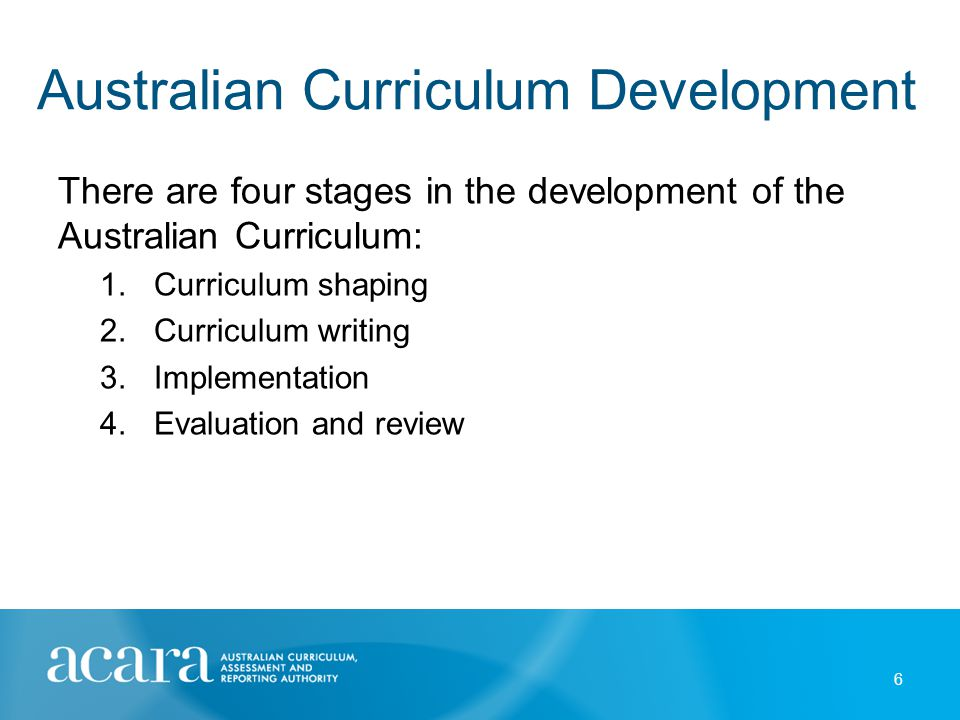 Australian Curriculum Development