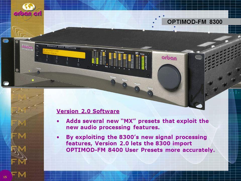OPTIMOD-FM 8300 Version 2.0 Software
