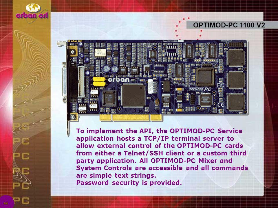 OPTIMOD-PC 1100 V2