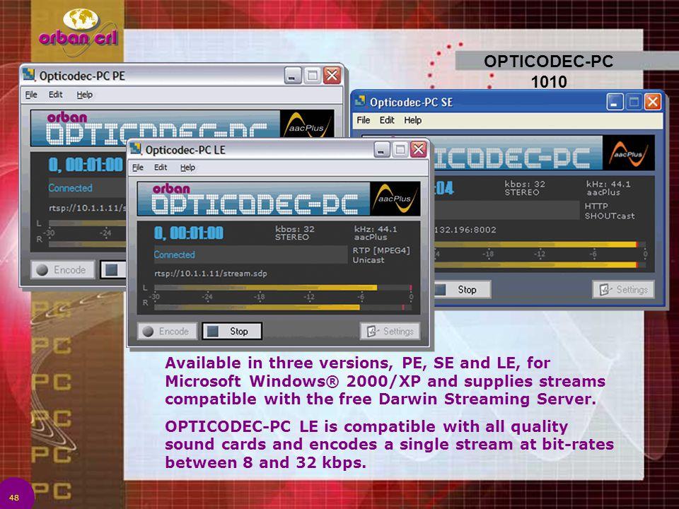OPTICODEC-PC 1010