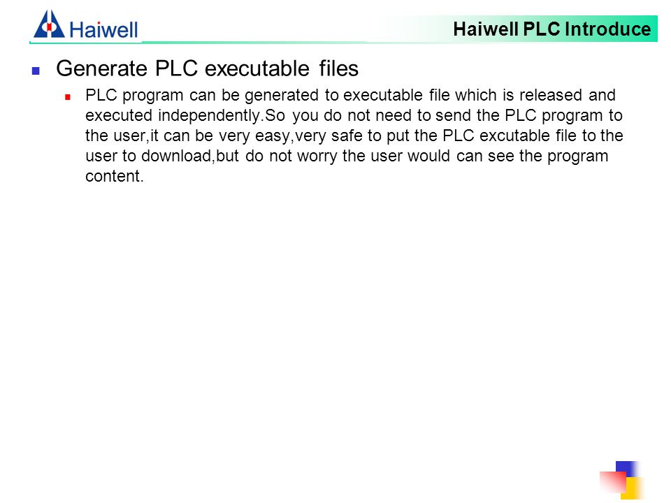 Generate PLC executable files