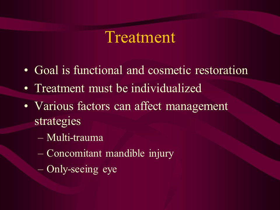 Treatment Goal is functional and cosmetic restoration