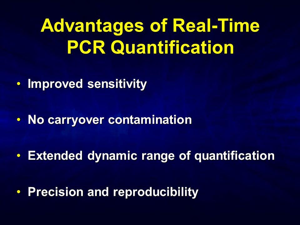 Advantages of Real-Time PCR Quantification