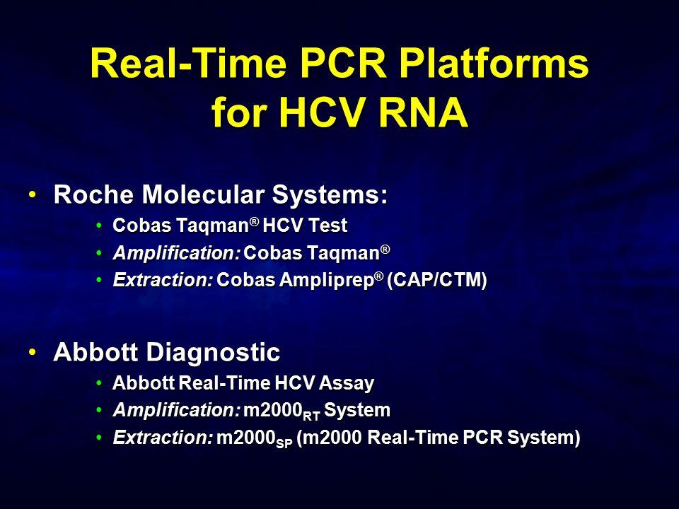 Real-Time PCR Platforms for HCV RNA