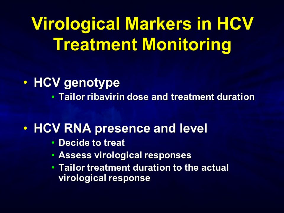Virological Markers in HCV Treatment Monitoring