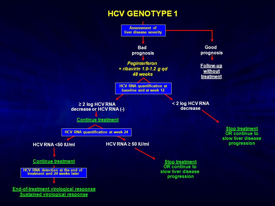 HCV GENOTYPE 1 Bad Good prognosis prognosis