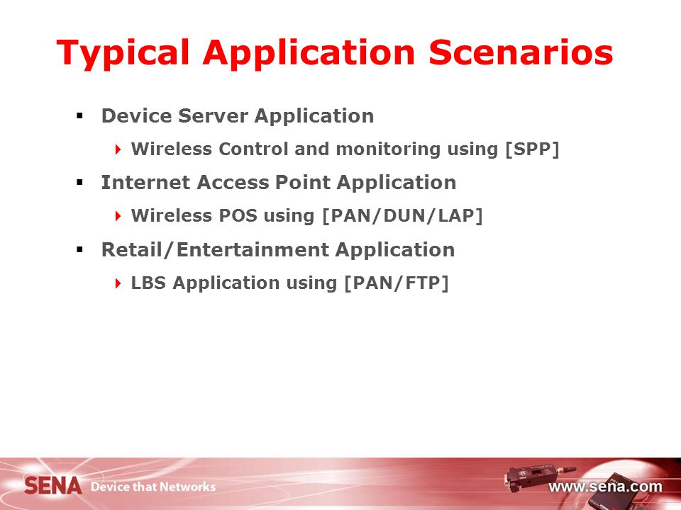 Typical Application Scenarios