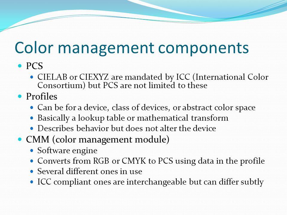 Color management components