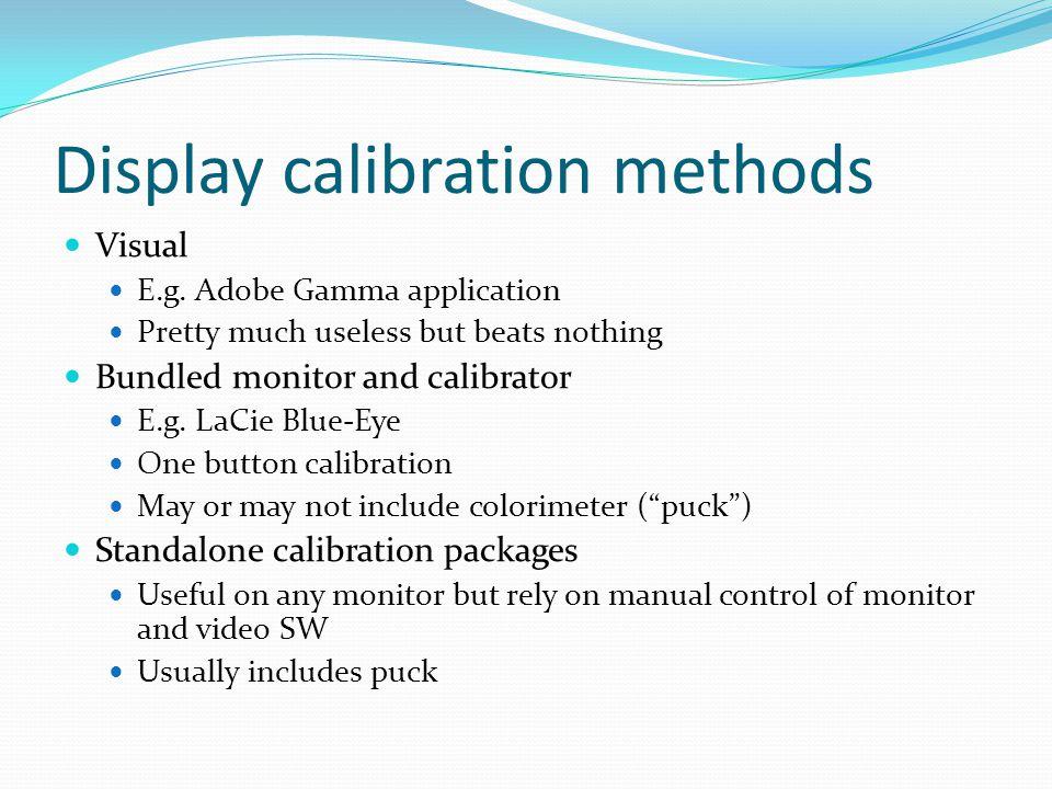 Display calibration methods