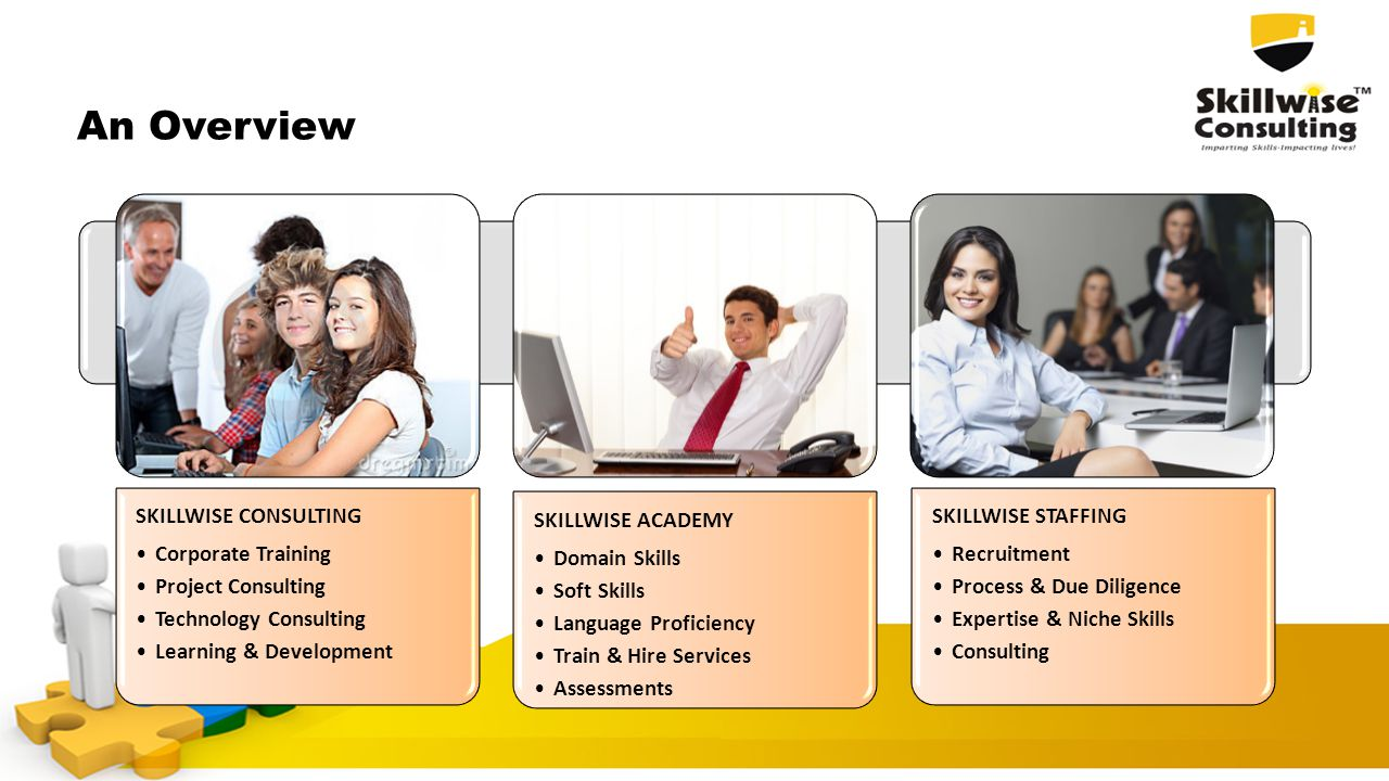 An Overview SKILLWISE CONSULTING Corporate Training Project Consulting