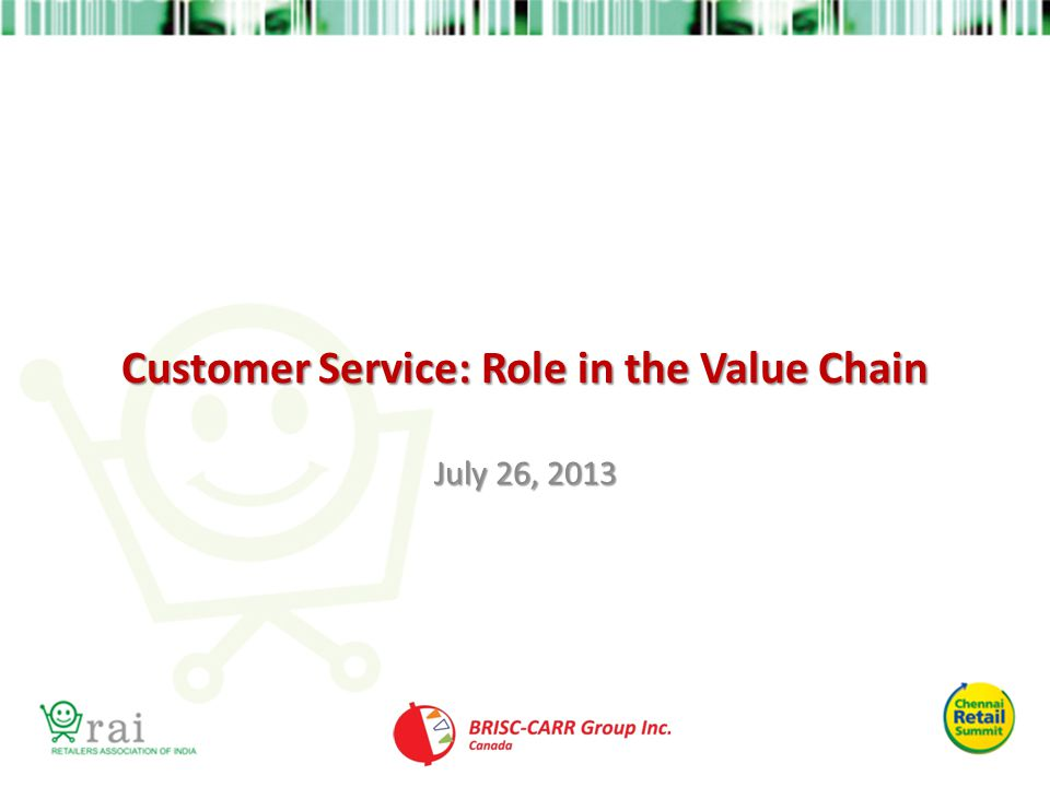 Customer Service: Role in the Value Chain