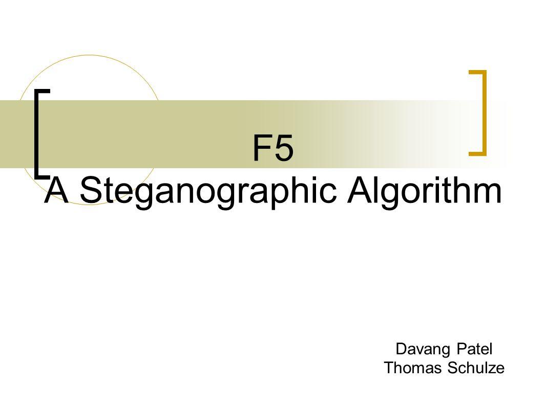 F5 A Steganographic Algorithm