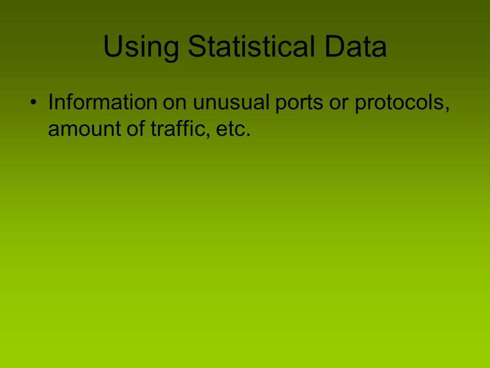 Using Statistical Data