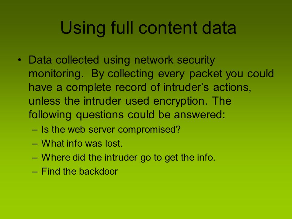 Using full content data