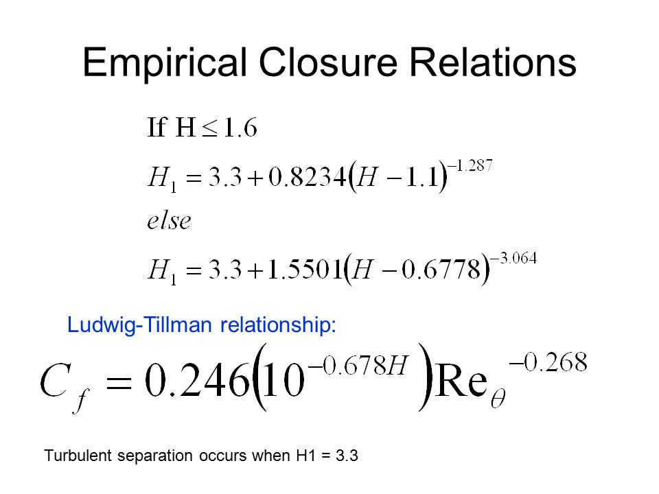 Empirical Closure Relations
