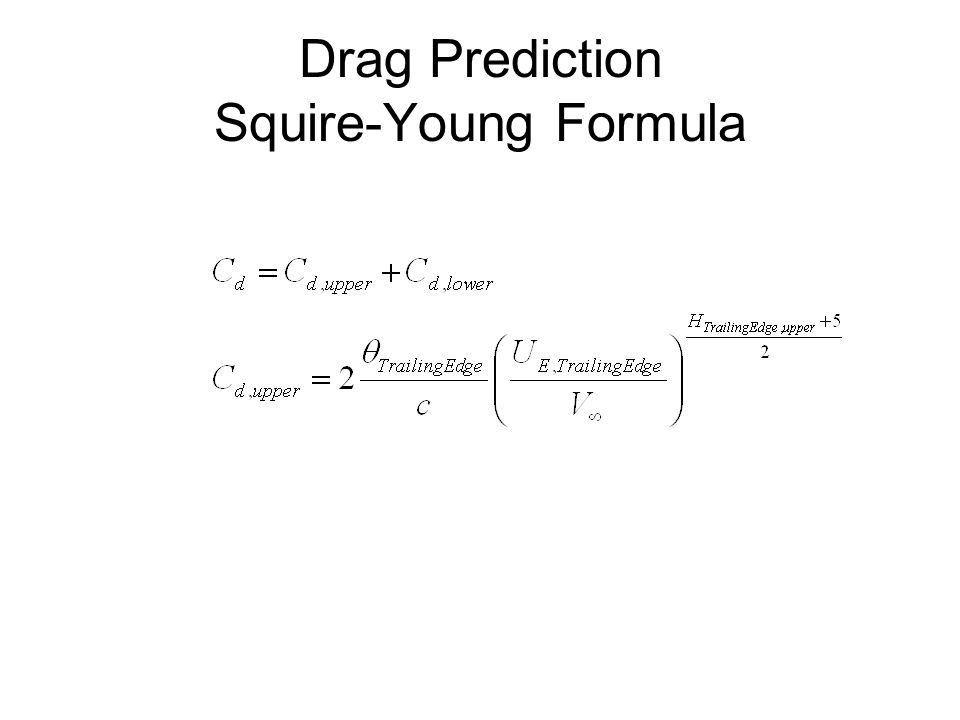 Drag Prediction Squire-Young Formula