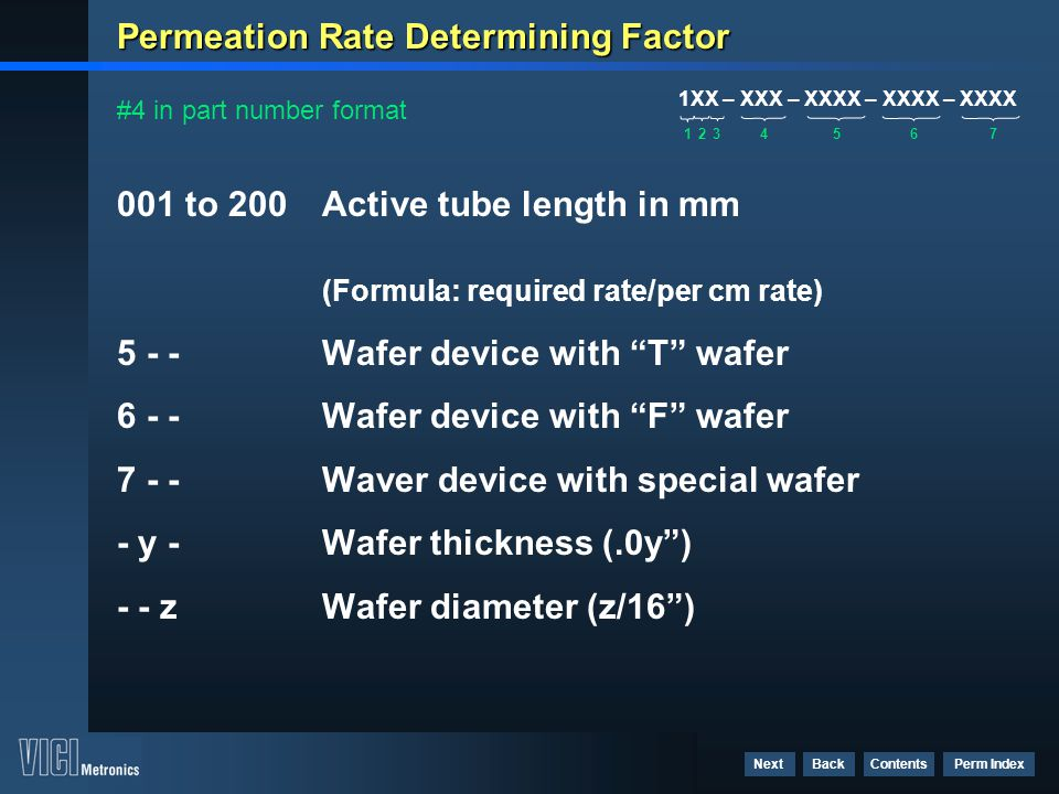 Permeation Rate Determining Factor